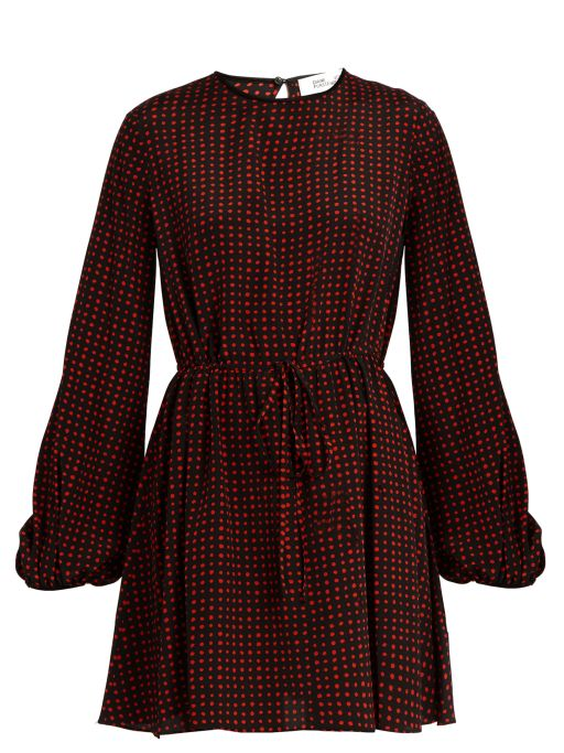 Diane von Fürstenberg - Kleid aus Seide mit roten Tupfen