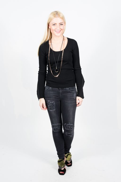 7 For All Mankind - Skinny Ny Black Studs