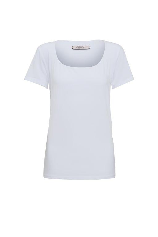 Dorothee Schumacher - Basic T-Shirt mit weitem Ausschnitt weiss