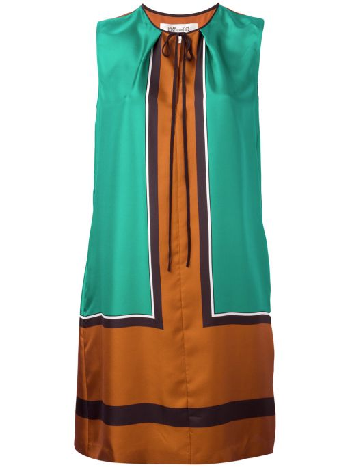 Diane von Fürstenberg - Seiden Kleid im Colour Blocking