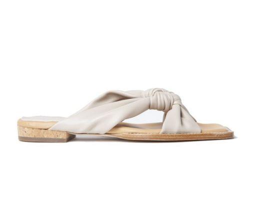 Paloma Barceló - Flache Sandale mit Knoten cream