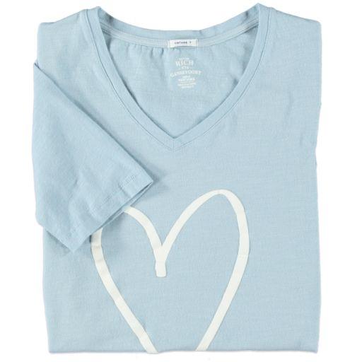 Better Rich - T-Shirt heart baby blue