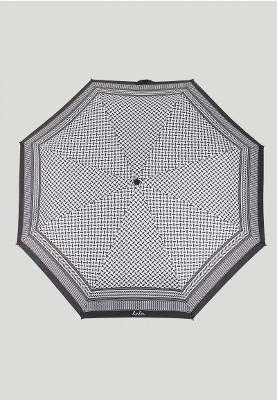 lala Berlin - Regenschirm Kufiya Black/White