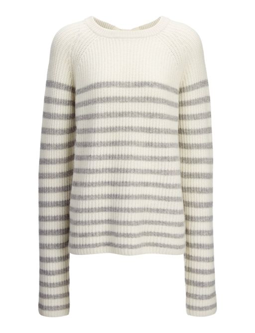 Joseph - Sailor Cashmere Stripe Sweater off white L