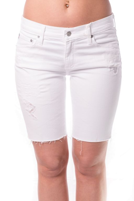AG Jeans - The Nikki Jeansshorts Relaxed Skinny in weiß