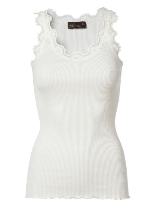 Rosemunde - Top mit Spitze New white