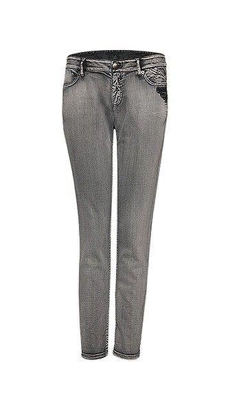 Marc Cain - Leger geschnittene Jeans mit Destroyed- und Bleaching Effekt