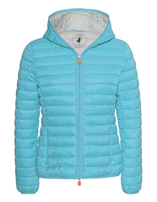 Save The Duck - Wattierte Jacke mit Kapuze Atoll blue