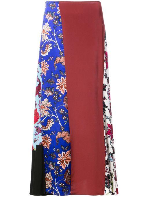 Diane von Furstenberg - Seidenrock in Patchwork Design