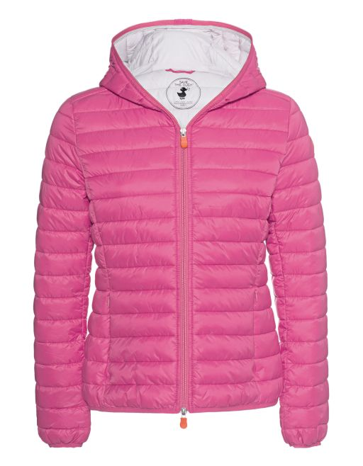 Save The Duck - Wattierte Jacke mit Kapuze pink