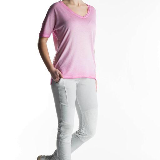Better Rich - V-Neck T-Shirt Vintage rosa