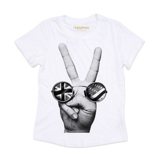 "Happiness - T-Shirt Splendida ""Rock Peace"" weiß"