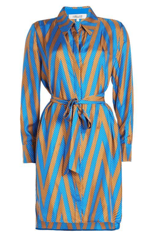 Diane von Fürstenberg - Bedrucktes Blusenkleid mit Gürtel
