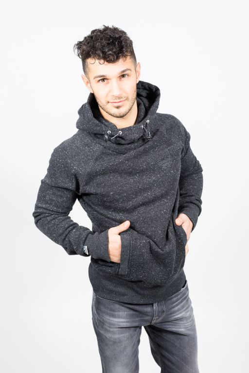 Superdry - Orange Torch High Rider Herren Hoodie grau meliert