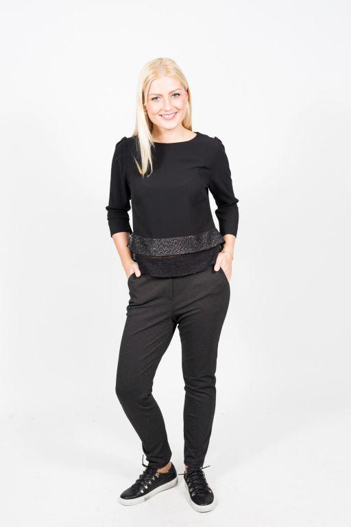 Evelin Brandt - Elgantes Shirt mit Lurex