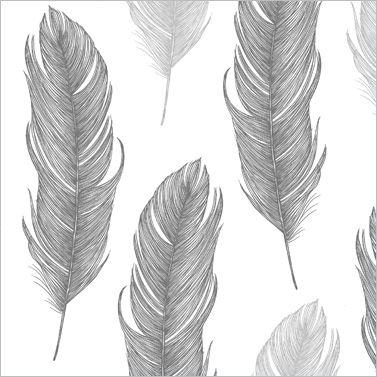 """Serviette """"Elegant Feather"""""""