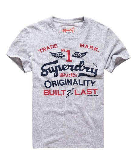 Superdry - Herren Rebel Tee Ice marl