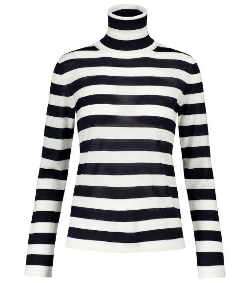 Max Mara - Pullover aus reiner Schurwolle gestreift