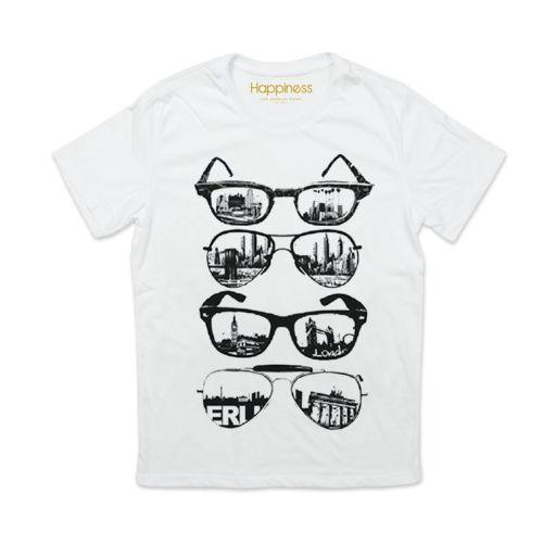 "Happiness - T-Shirt Splendida ""Sunglasses"" weiß"