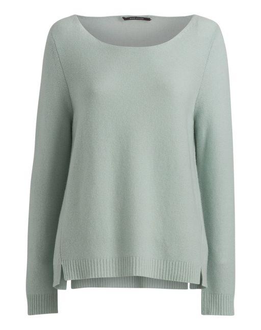 Rene Lezard -Kashmir Pullover mit kleinen seitlichen Schlitzen