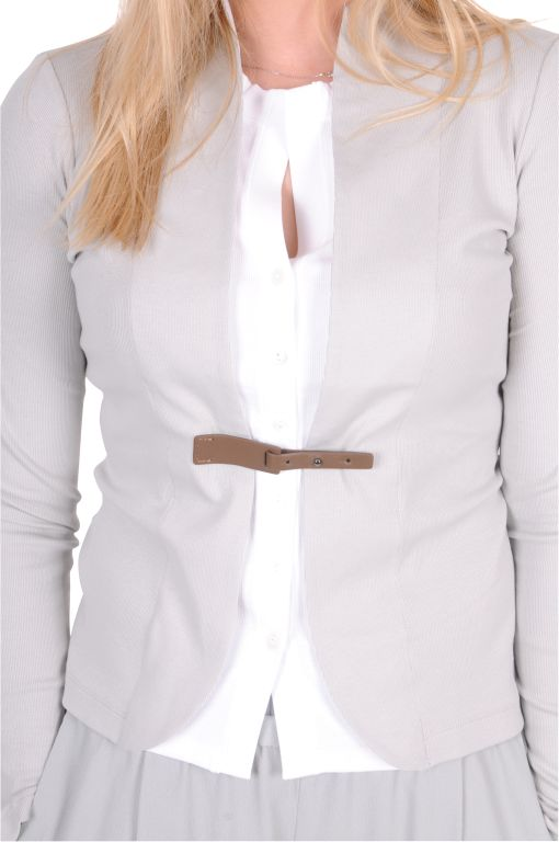 Fabiana Filippi - Kurze Jacke mit Lederriegel