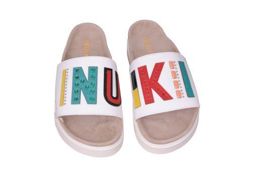 Inuikii - Sandale mit Logoriemen weiß