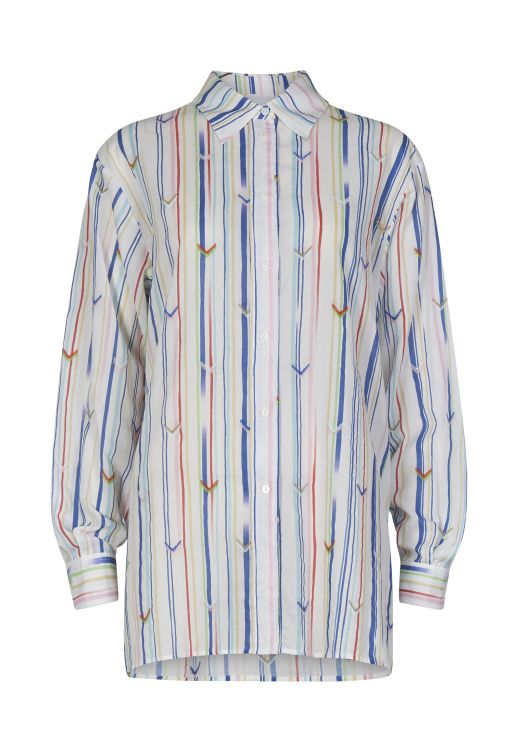 lala Berlin - Bluse mit bunten Streifen