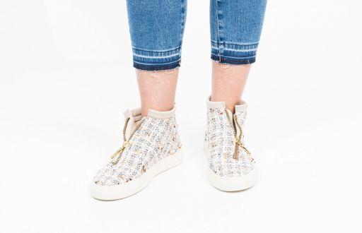 Diemme - Tweed Sneaker mit goldenem Reißverschluß