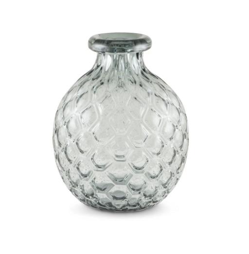 Vase Wabenstruktur bauchig