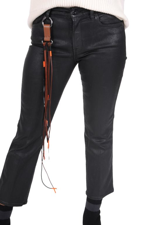 7 For All Mankind - Cropped Boot Hose coated