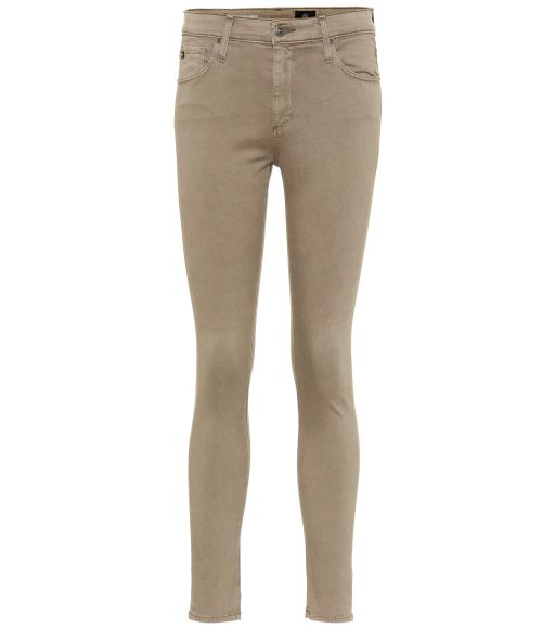 AG Jeans - The Farrah Skinny Ankle Baumwollstrechthose