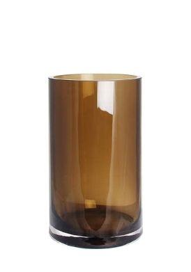 Glaszylinder braun mittel