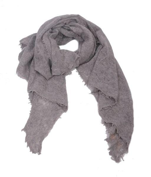 Pur Schoen - Handgefilzter Cashmere Tuch Grau