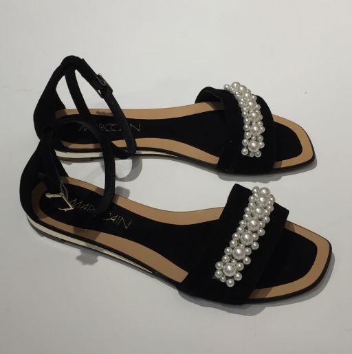 Marc Cain - Sandale mit Perlen schwarz