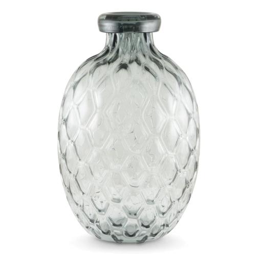 Vase Wabenstruktur bauchig lang
