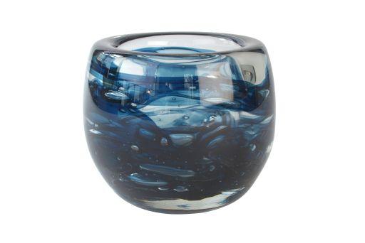 Glasvase mit Farbeffekt blue