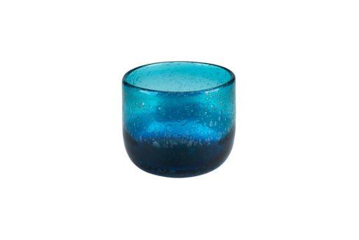 Windlicht Bubble blau gross