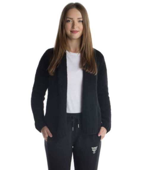 Better Rich - Kurze Strickjacke black