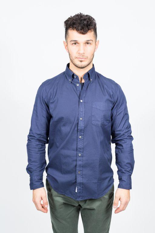 Superdry - Herren Tailored Oxford Hemd navy
